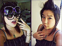 Fact#5: Not Gonna Lie, I`m Really Weird (laweeenn) Tags: lauren up sunglasses hair asian weird diptych purple haha bangs six facts mediocre fohawk oovoo laweeeenn myfacts