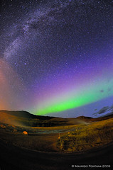 Aurora Borealis & Milkyway (Maurizio Fontana) Tags: travel blue stella light sky orange color colors night dark way stars lights star fly iceland travels nikon colore blu via volo cielo aurora land vulcan luci geyser terra vikings viking spa milky colori isle viaggi geysir strokkur viaggio arancio notte luce northernlights vulcano auroraborealis borealis arancione isola streamer stelle belin milkyway vichingo islanda d300 boreale tenebre notturni vichinghi auroraboreale lattea vialattea supercontest colorsofthesoul