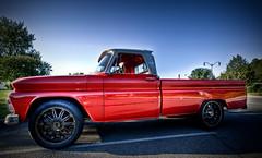 East Coast Customs (Dj Poe) Tags: red summer me ferry truck canon lens eos mark wide pickup explore ii 5d 28 custom rims hdr dobbs 1635mm 5dmk2 djpoe