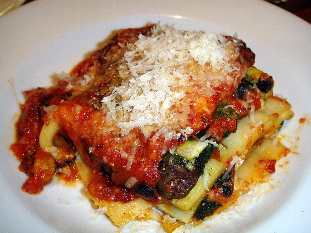 Lasagna with Bellwether Farms Ricotta, Zucchini and Mushrooms