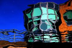 Drunken building (Steve-h) Tags: ireland dublin reflection buildings railings grandcanal steveh canoneos500d platinumheartaward canonefs18200mmiszoom