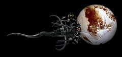 VYRRAL enjoying a Pluto Pup (Karf Oohlu) Tags: lego space alien stranger spaceship pluto