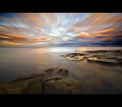 Travels In Time (Paul Santos Photography) Tags: sunset sky seascape colour water clouds coast movement rocks long horizon tokina northumberland shore 1224 whitleybay d90 seatonsluice nd110 paulsantos