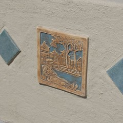 Bachelder Dutch Boy tiles were reproduced as part of the restoration of the Rotary Ryland Pool.