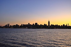 (pmarella) Tags: city nyc newyorkcity morning sky urban usa newyork color reflection building nature water beautiful skyline sunrise reflections river landscape lights solitude cityscape shadows manhattan silhouettes viewlarge pmarella hudsonriver empirestatebuilding empirestate lamplight ef2470mmf28lusm donttrythisathome amomentintime throughmyglasseye eos50d riverviewpkproductions myeyeshaveseenthis