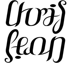 """Chris"" & ""Leon"" Ambigram"
