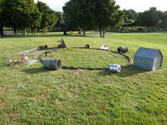 2007-12-23-Stoneleigh-2007-15-04-Giant Charm Bracelet (russellstreet) Tags: newzealand sculpture auckland nzl manukau aucklandbotanicalgardens sculpturesinthegarden2007 stoneleighsculpturesinthegarden2007 fionagarlick giantcharmbracelet