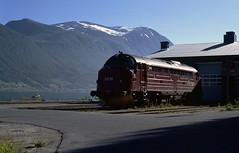 Di3 at rest on Andalsnes depot. (Marra Man) Tags: nsb andalsnes 3616 nohab norwegianstaterailway norgesstastbaner classdi3a