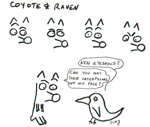 366 Cartoons - 243 - Coyote and Raven