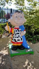 """Crossword Linus"" (Thom Watson) Tags: california sculpture art museum cartoon crossword peanuts linus puzzle blanket charlesschulz santarosa linusvanpelt"