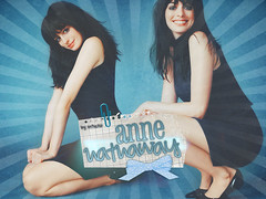 Anne Hathaway - Pretty in blue (bitchymode) Tags: anne graphic banner hathaway blend