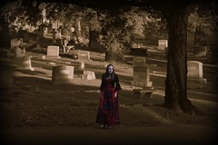The Futile Search (fallingwater123) Tags: halloween monument cemetery grave graveyard statue