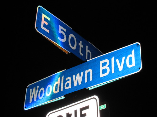 E 50th St at Woodlawn Blvd