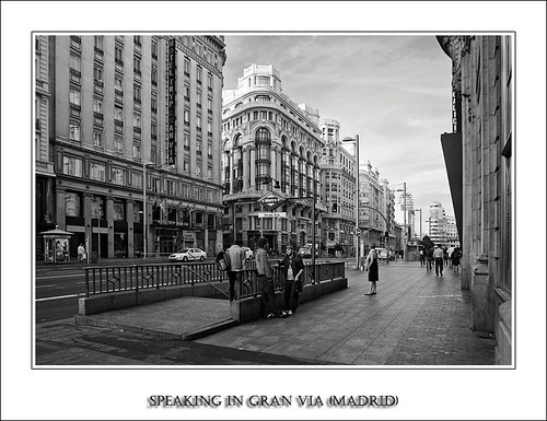 Speaking in Gran Via (Madrid)