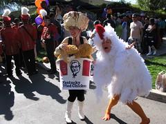 Chicken vs Chicken? (daradactyl) Tags: chicken kfc disneyhalloweencostumecontest