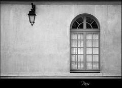Paris (S. Lo) Tags: travel bw paris france window lamp hospital streetlamp saintpaul thechallengefactory