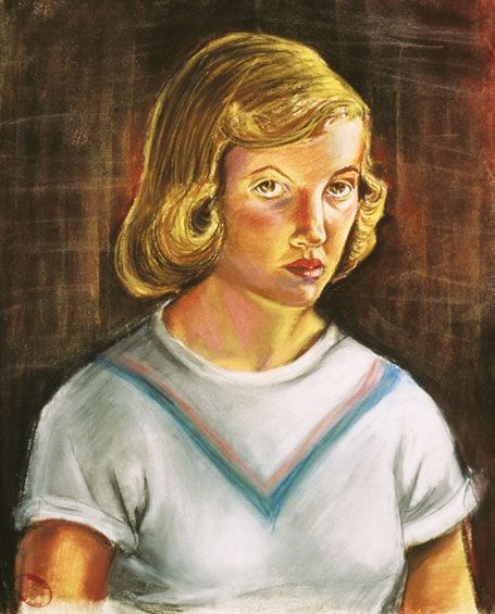Born on October 27, 1932, Sylvia Plath made this self-portrait in 1951
