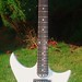Bare Knuckle Nailbomb Pickups fitted to Custom Guitar made by Guy Lewis