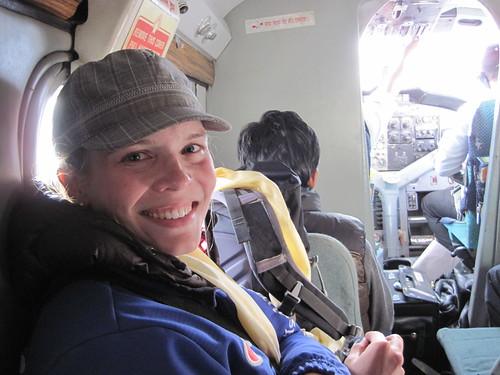 On the plane to Kathmandu