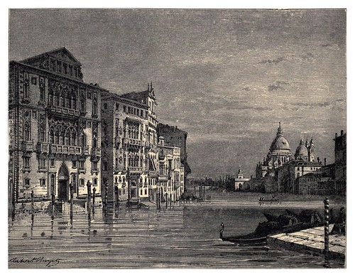026-El Gran Canal de Venecia-Italian pictures drawn with pen and pencil 1878