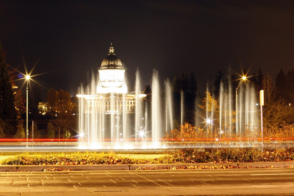 Heritage Fountain and State Capitol