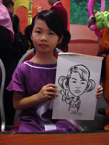 Caricature live sketching for Marina Square X'mas Tenants Gathering 2009 - 13