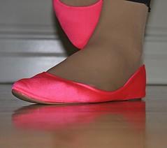 New Flats (Christie Jane) Tags: pink tv shoes pumps cd crossdressing tgirl transgender flats tranny transvestite crossdresser crossdress gurl tg pinkshoes trannie skimmers balletflats xdressing courtshoes xdress tgurl pinkflats xdressresser