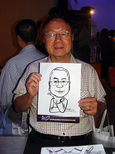 Caricature live sketching for GSK Urology Powerhouse -3