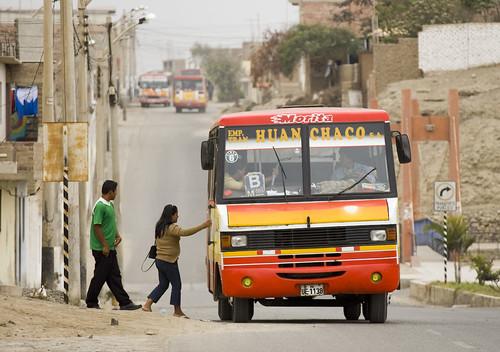 Huanchaco Buses. ©UnpavedSouthAmerica.com