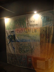 """AIDS quilt panels at BCT for """"As Is"""" (juliejordanscott) Tags: aidsquilt remembering bct asis december2009"""