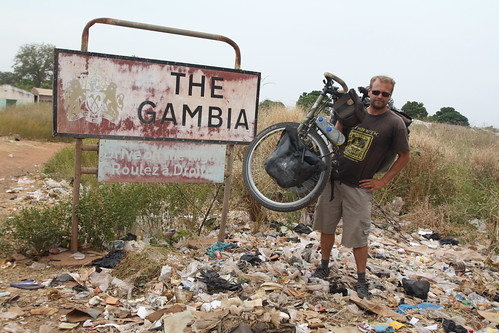 Gambia welcomes me with rubbish