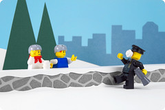 Day 7: Police Officer (powerpig) Tags: city winter snow advent calendar lego police cop 2009