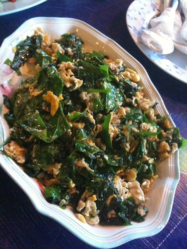 Stir-Fry Local Greens with Eggs