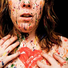 Heart. (alibubba) Tags: portrait selfportrait colors self paint heart sp messy facepaint splatter selfie emulation faceart 365days myfaceismycanvas 52weeksoffeelingfit