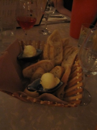Bread basket at Les Cabotins