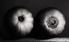 (o) (o) (eyebex) Tags: two bw food white black vegetables boobs delete8 round squash butternutsquash save10 108