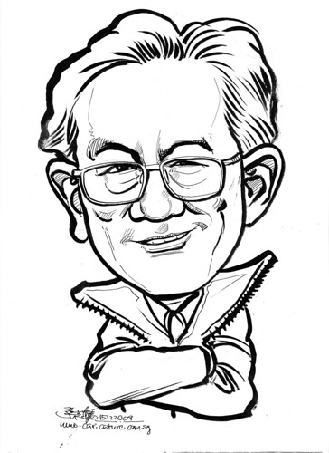 Caricature in ink for Leaf -1
