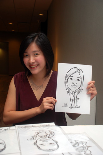 Caricature live sketching for Lonza - 9