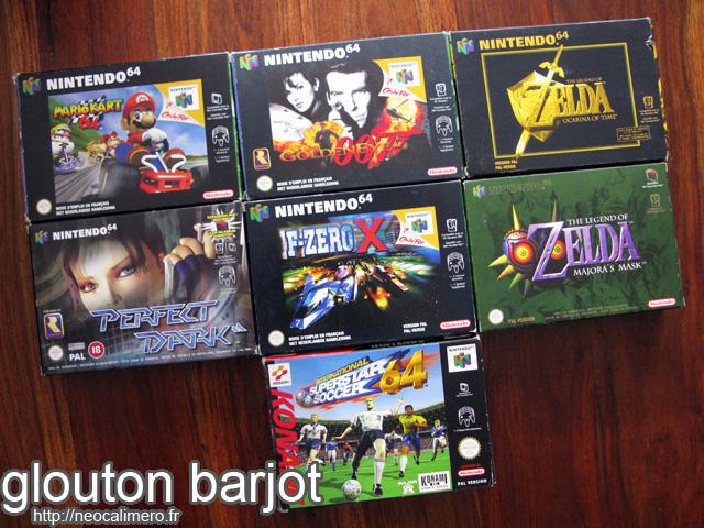 Jeux N64 complément collection