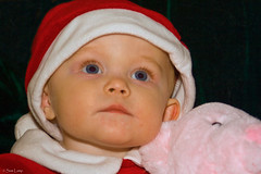 Beth 9 (Sam Lamp Photography) Tags: bear santa christmas pink blue red baby holiday eye hat smiling happy infant elizabeth beth