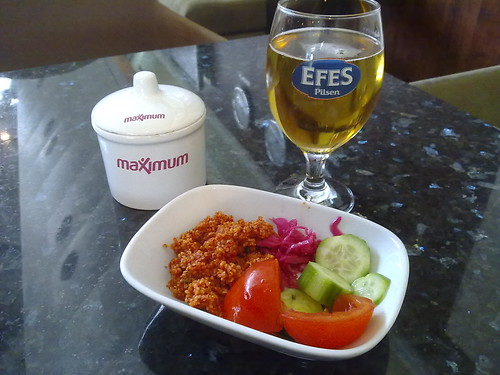 Some kind of snacks at Istanbul's Millenium Lounge