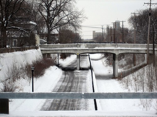 Midtown Greenway is Plowed