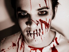 Justin Graham (Kati Bear Photography) Tags: red strange scary blood zombie gore horror scars fright bloodred