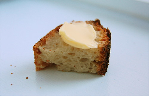 No-knead bread avec beurre