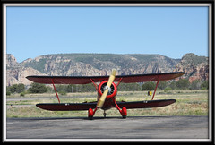 Waco YMF at SEZ (twm1340) Tags: county arizona classic airplane airport waco aircraft engine sedona az jacobs sez r755 mesa biplane radial coconino yavapai ymf shakeyjake