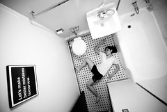 This one I am stuck with. (ygchan) Tags: bw selfportrait art me bathroom surgery ducttape conversations retrospective acl ld day61 showercurtain reconstruction feelings rehabilitation defeated physicaltherapy jobygorillapod 20x200 mentaltorment