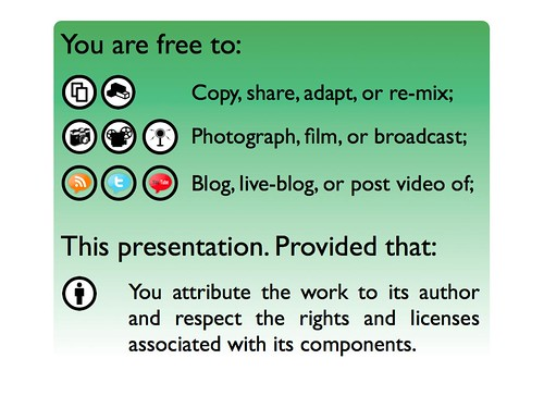 Permission to do whatever with presentation