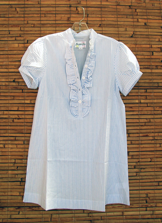 blue-white-stripes-ruffle-tunic