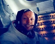 View of Astronaut Neil Armstrong in Lunar Module (Virtual Tour - 5)