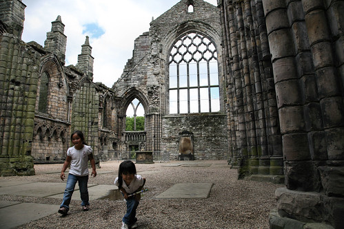 Ruins of Abbey behind Holyrood Palace